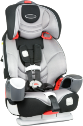 A child's car seat